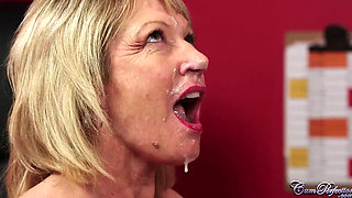 Facial for British Milf Amy