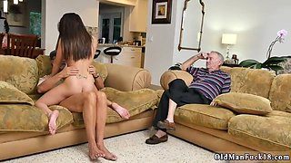 Daddy fucks partners daughters boss and seducing Riding the Old Wood