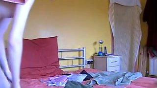 Slender teen got on the solo spy cam in her bedroom
