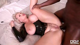 Busty blonde orders bbc
