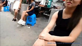 Fcuk beautiful Chinese girl selling sex from street part2