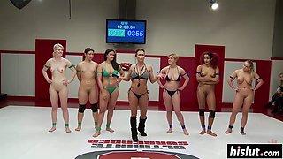 Sex wrestling featuring amazing hot girls