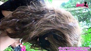 Chubby german amateur bbw mature get outdoor forest creampie