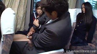 Innocent Schoolgirl Has A Shameful Bus Ride