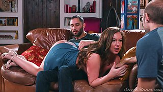 Nasty wife Maddy Oreilly is having dirty sex with BF's best friend