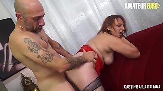 Omar Galanti - Horny Chubby Italian Milf Loves Riding A Huge Cock On First Audition