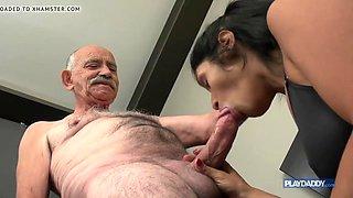 she wants grandpa big cock