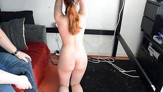 Little cute college girl slave hard punishment