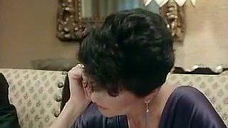 Short haired elegant brunette milf gives amazing sensual head