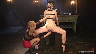 Fabulous anal, fisting adult clip with crazy pornstars Maitresse Madeline Marlowe and Delirious Hunter from Whippedass