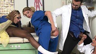 CFNM nurses cocksuck black dick in hospital