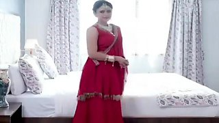 Indian Beautifull Wife Enjoying First Night