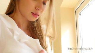 Nice Cute Slim Teen Girl Milana At Home