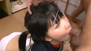 Japanese bukkake and deepthroat
