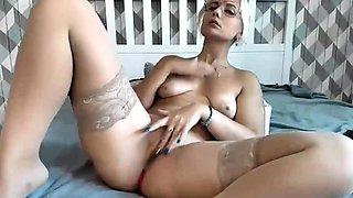 Amateur German Milf Rubs Pussy Gently