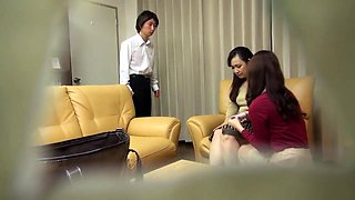 Lustful Japanese housewives having hot sex with their lovers