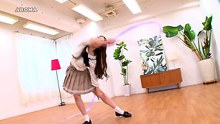 Sensual Japanese girl in tight panties flaunts her sexy body