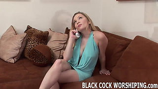 Can you handle watching me fuck this big black cock