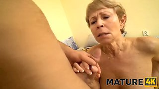 MATURE4K. Maid is middle aged and she is the man type so he gets fucking mature