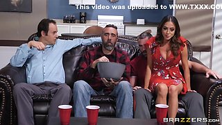 Naked Stud Fucks Half-naked Babe In Doggy Style In Kitchen With Charles Dera And Ariella Ferrera