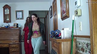 Filmed brunette Milf on hidden cam
