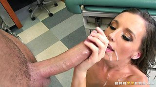 Filthy patient Jamie Jackson teases and gets fucked by a doctor