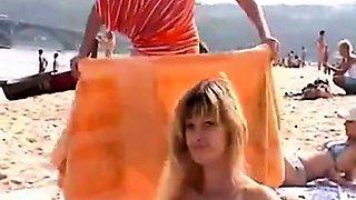 Nude Beach - Two sweet Little Tits Teens