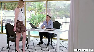 kinky secretary gets spanked by her boss