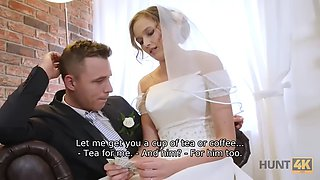 HUNT4K. Rich man pays well to fuck hot young babe on her wedding day