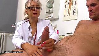 Mature doctor needs sperm sample