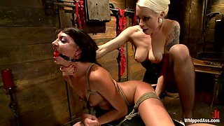Best fetish, fisting sex movie with amazing pornstars Cassandra Nix and Lorelei Lee from Whippedass