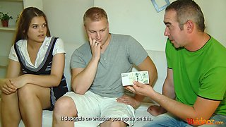 18 Videoz - He needs the money and she needs cock