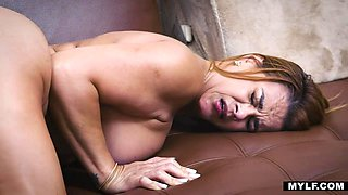 Barely legal boy is losing his virginity with super sexy Latin stepmom Juliett Russo