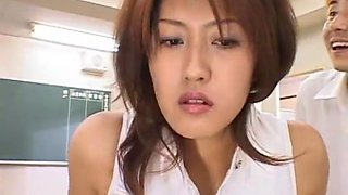 Exotic Japanese chick Nagisa Okamoto in Crazy Handjobs, Public JAV video
