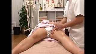 Blonde Japanese babe gets screwed during a massage
