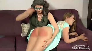 Texting a boyfriend then lying about it to Mom gets sassy sisters spanked OTK
