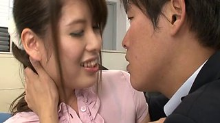 Lovely office assistant drops her pants for a breathtaking bonking by her boss