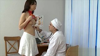 Horny doctor enjoys anal with her cute patient