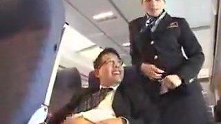 american stewardess handjob part 1