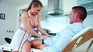 Nurse strips and gets intimate with older patient