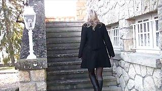 blonde teen upskirt