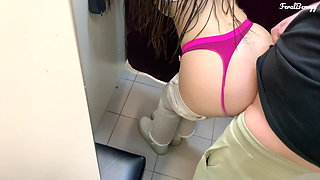 I fucked my stepdaughter in her tight ass in the fitting room