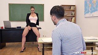 Busty Teacher Cathy Heaven fucks