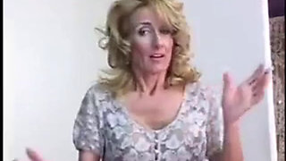 Busty mommy fucks son while dad is away