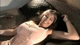 Big Tit Blonde Masturbates Clit While Given Pussy Lick
