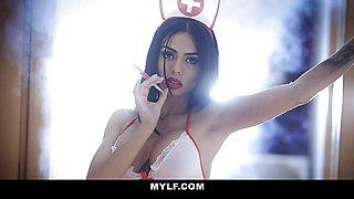 Gorgeous Babe Canela Skin In Nurse Uniform Ass Fuck