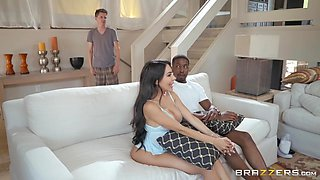 busty wife cheating on her husband for big black cock